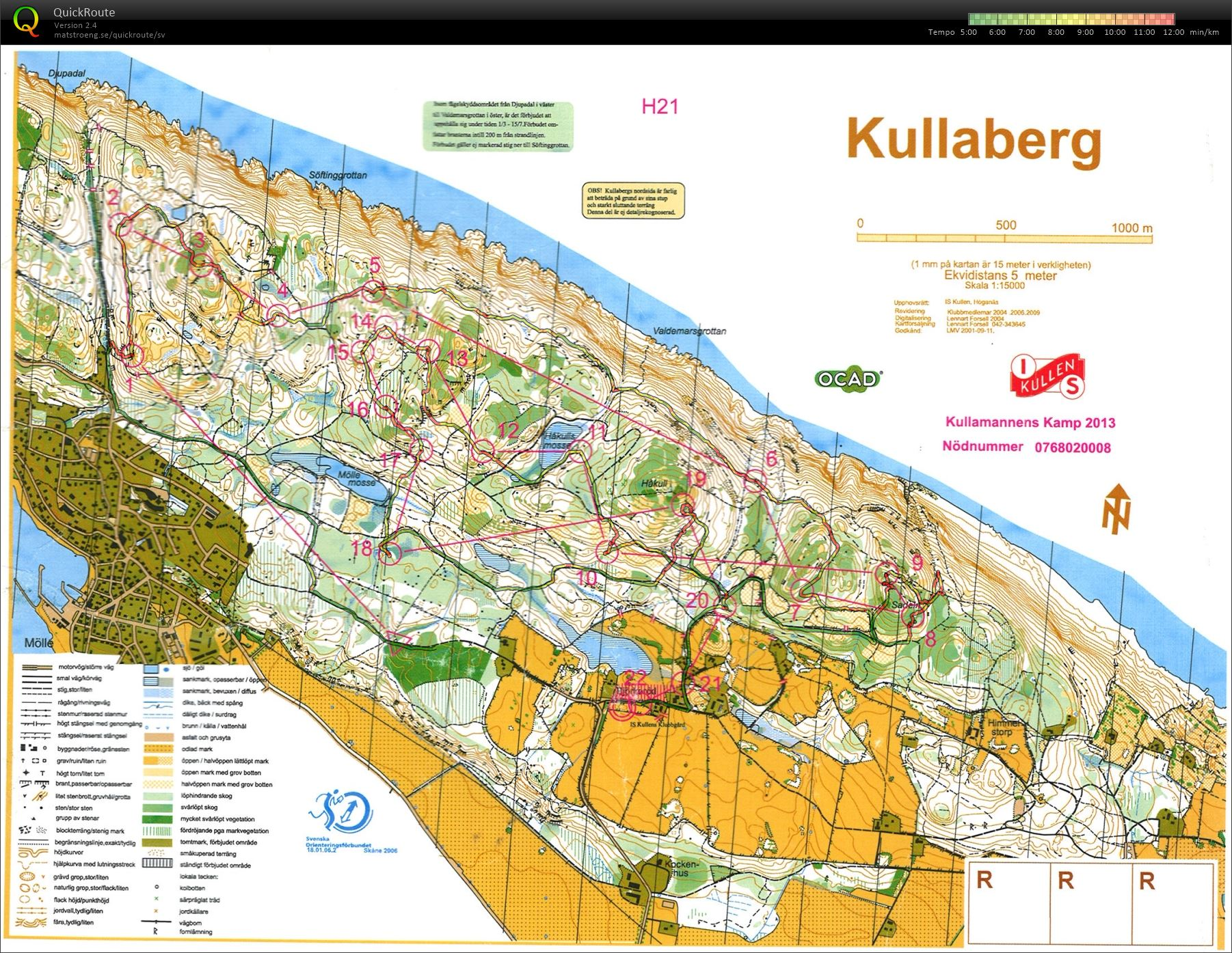 kullaberg karta Felix Alnervik's digitala kartarkiv :: Kullamannens Kamp (2013 11 10) kullaberg karta
